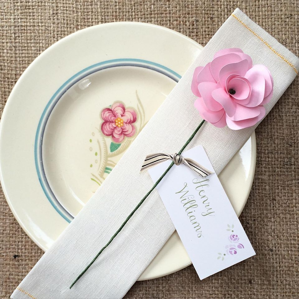 Paper rose stem