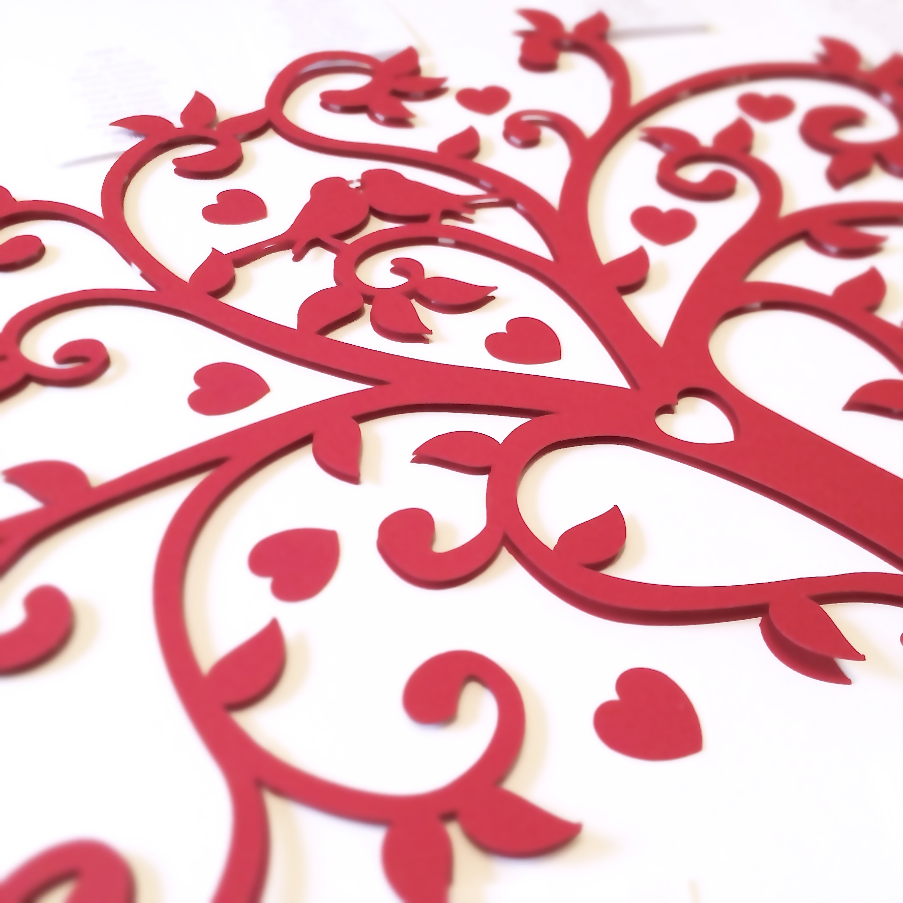 Tree table plan red