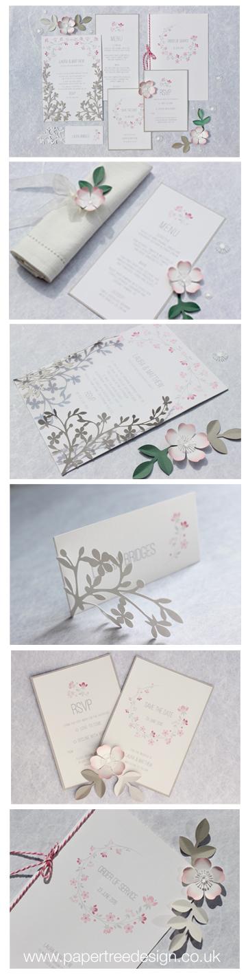 Cherry blossom stationery range