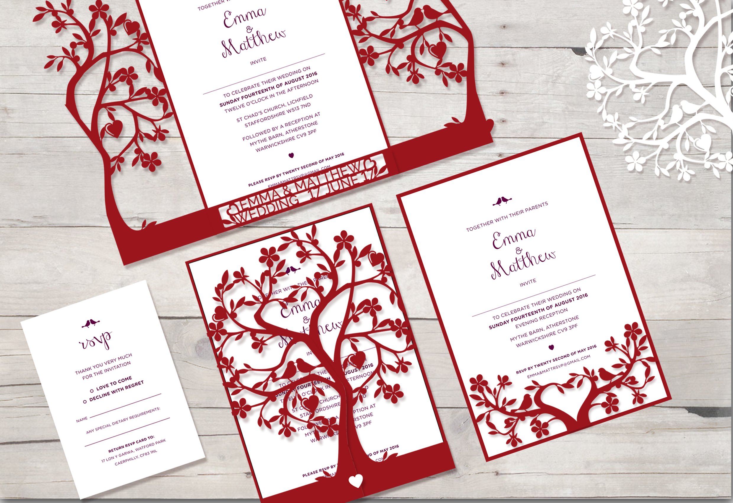 Cherry tree invitation