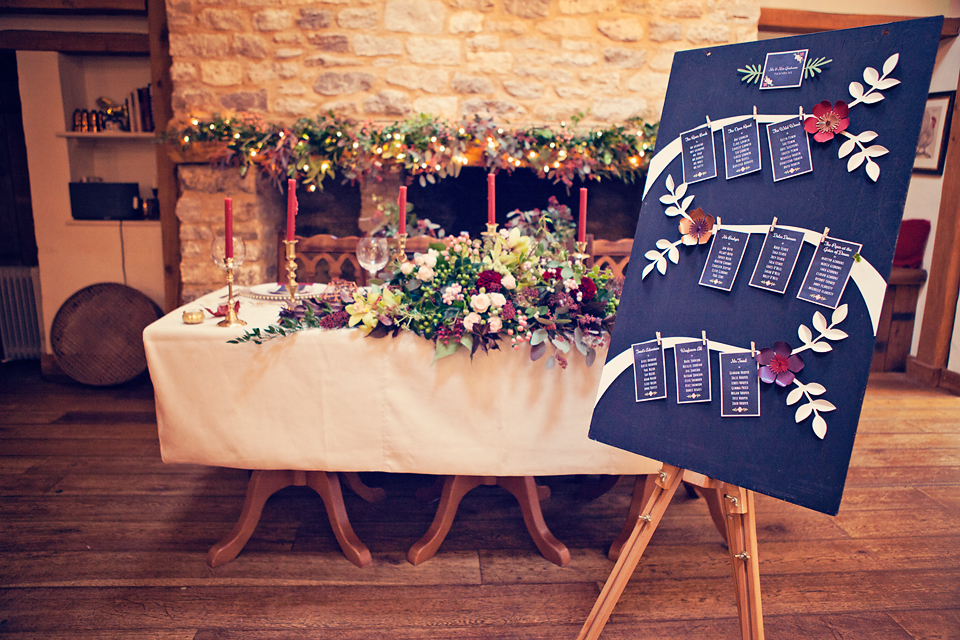Chalkboard  Floral Tableplan
