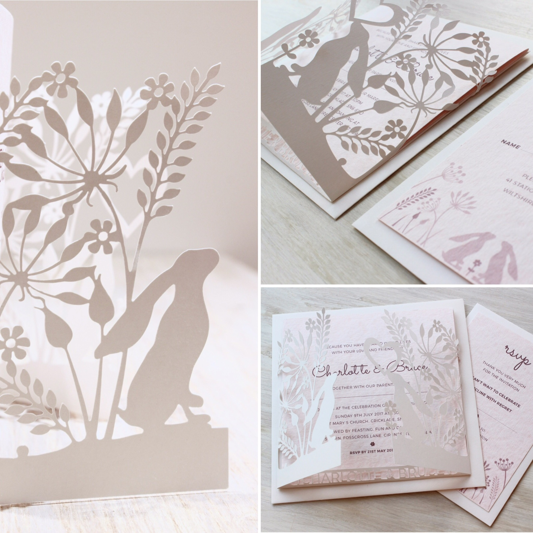 Cotswold Hares Invitations