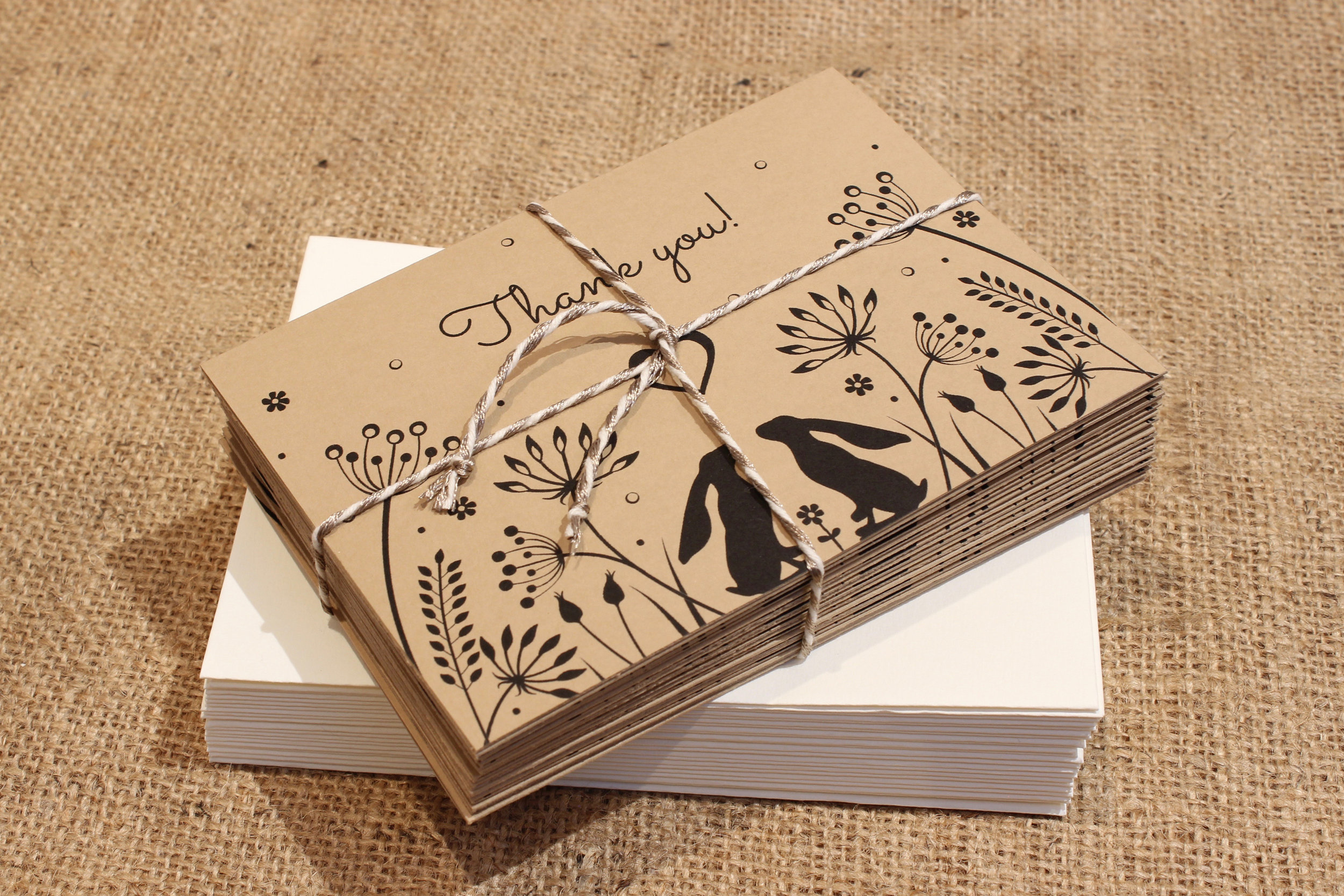 Cotswold Hares thank you cards