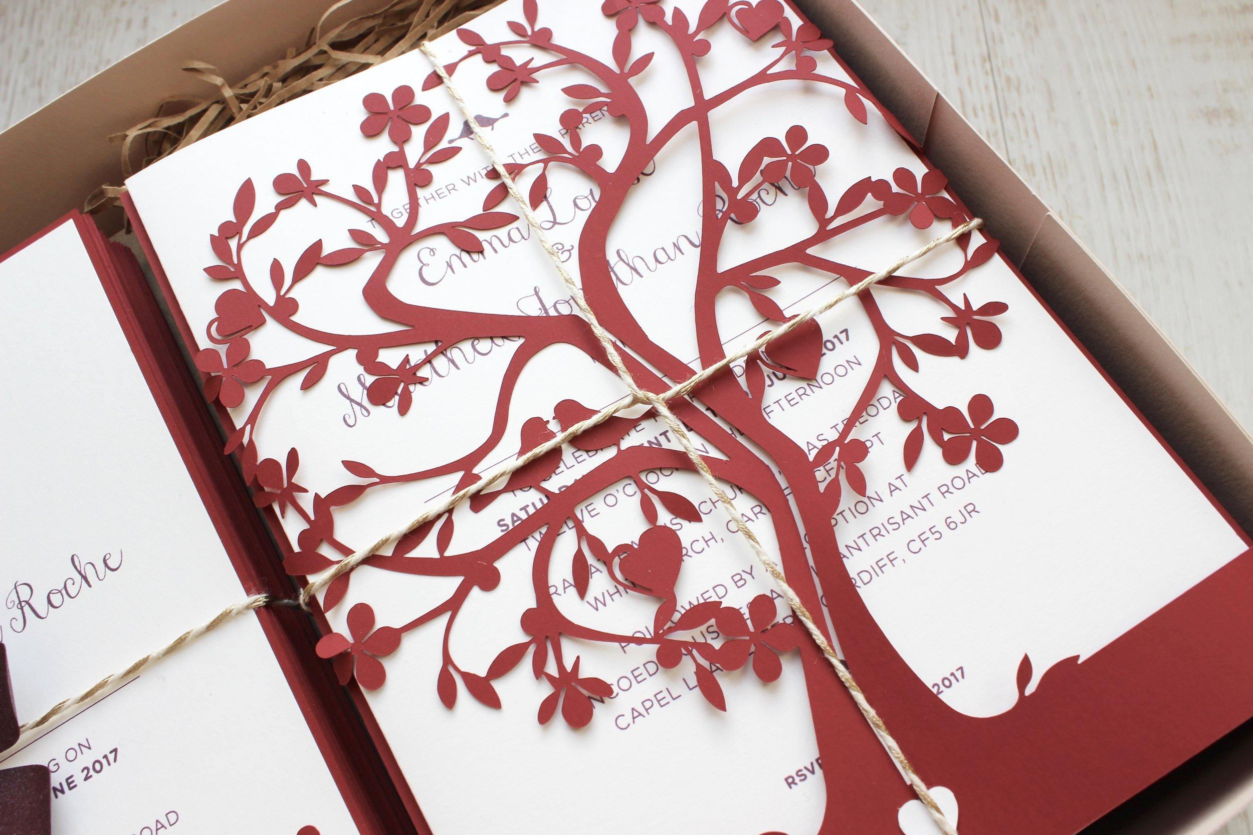 Cherry tree invitation