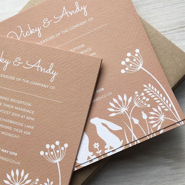 Evening invitations for Andy and Vicky who are getting married at @tythebarnlaunton  #barnwedding #oxfordshireweddingstationery #weddinginvitations  #oxfordshire