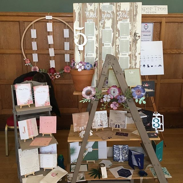 All set up at  @eynshamhall  for the @guidesforbrides wedding fair  #eynshamhall #guidesforbrides #Oxfordshireweddingstationery