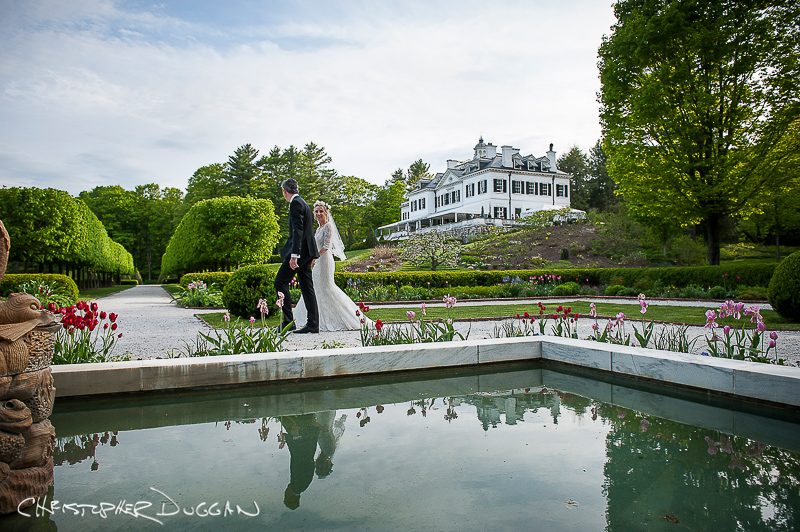 Wedding at The Mount (the home of Edith Wharton), Lenox MA.  Photo by Christopher Duggan Photography.