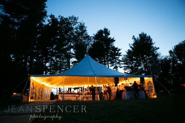 Tented wedding in the Berkshires