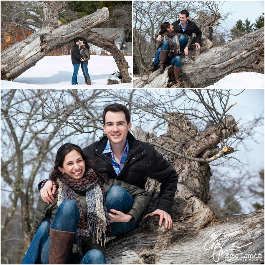 Winter Engagement Session in the Berkshires