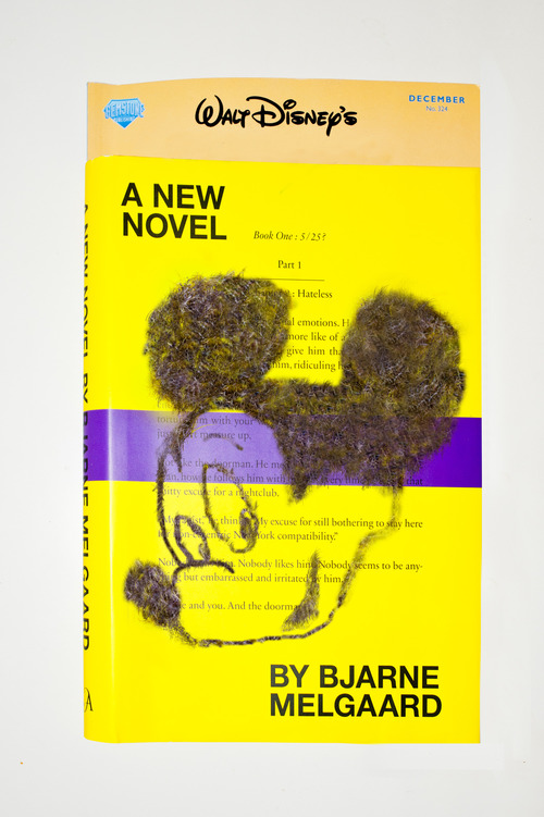 Walt Disney's A New Novel by Bjarne Melgaard with Shaved Pubic Hair Glued to the Cover  2012 Ltd. edition book release