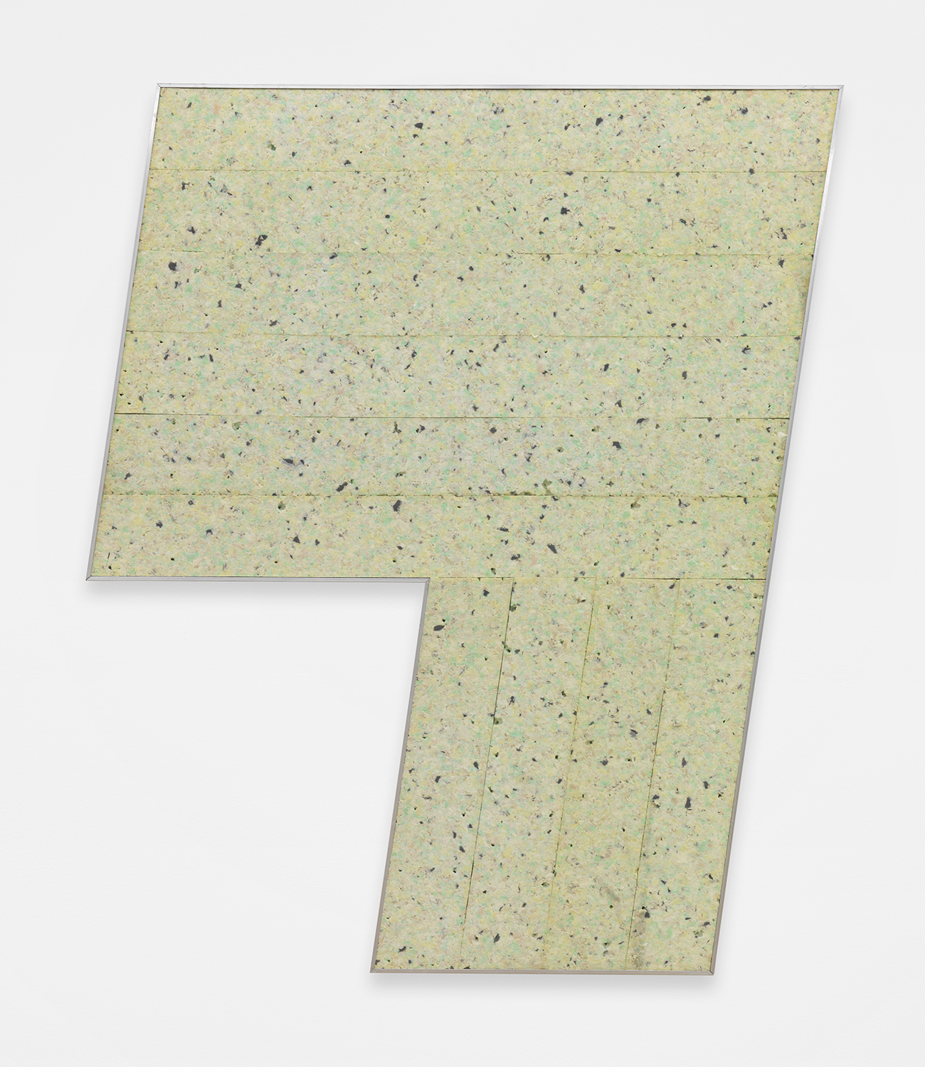 Epitome  2014 Re-bonded foam, aluminum, wooden panel 50 x 39.5 inches