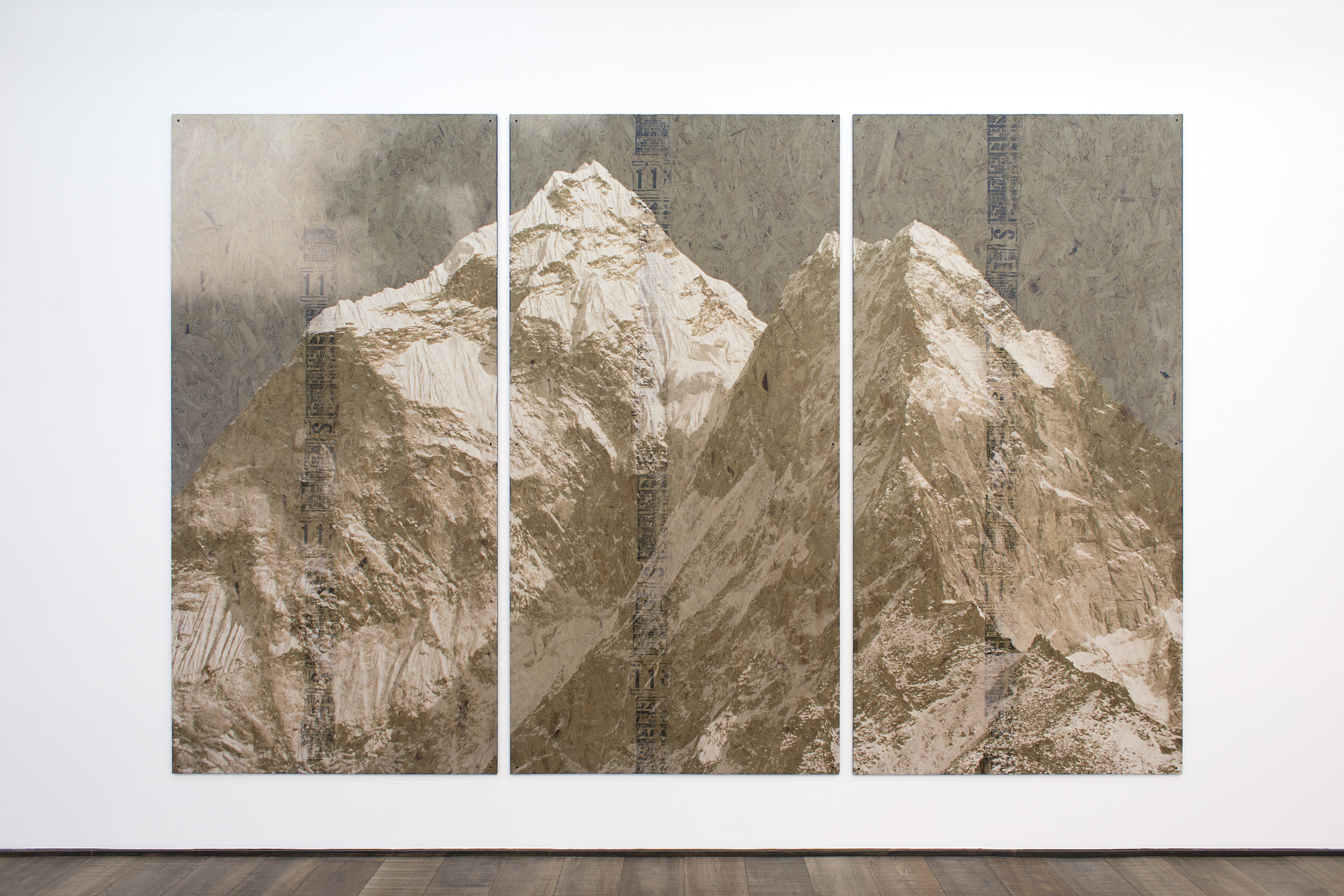 The Law of Reversed Effect   2014    Inkjet on perforated vinyl adhered to OSB, matter medium   96 x 149 inches