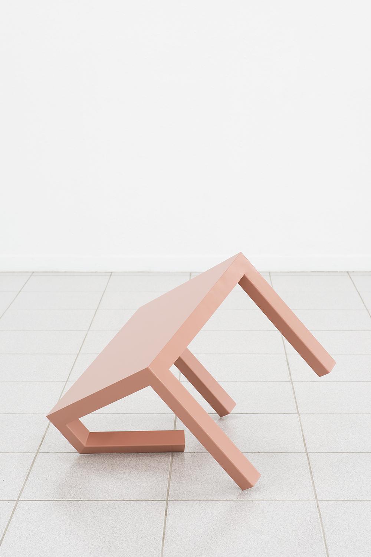 Dylan Lynch   LACK , 2014  Acrylic on steel  25 x 21.5 x 21.5 inches