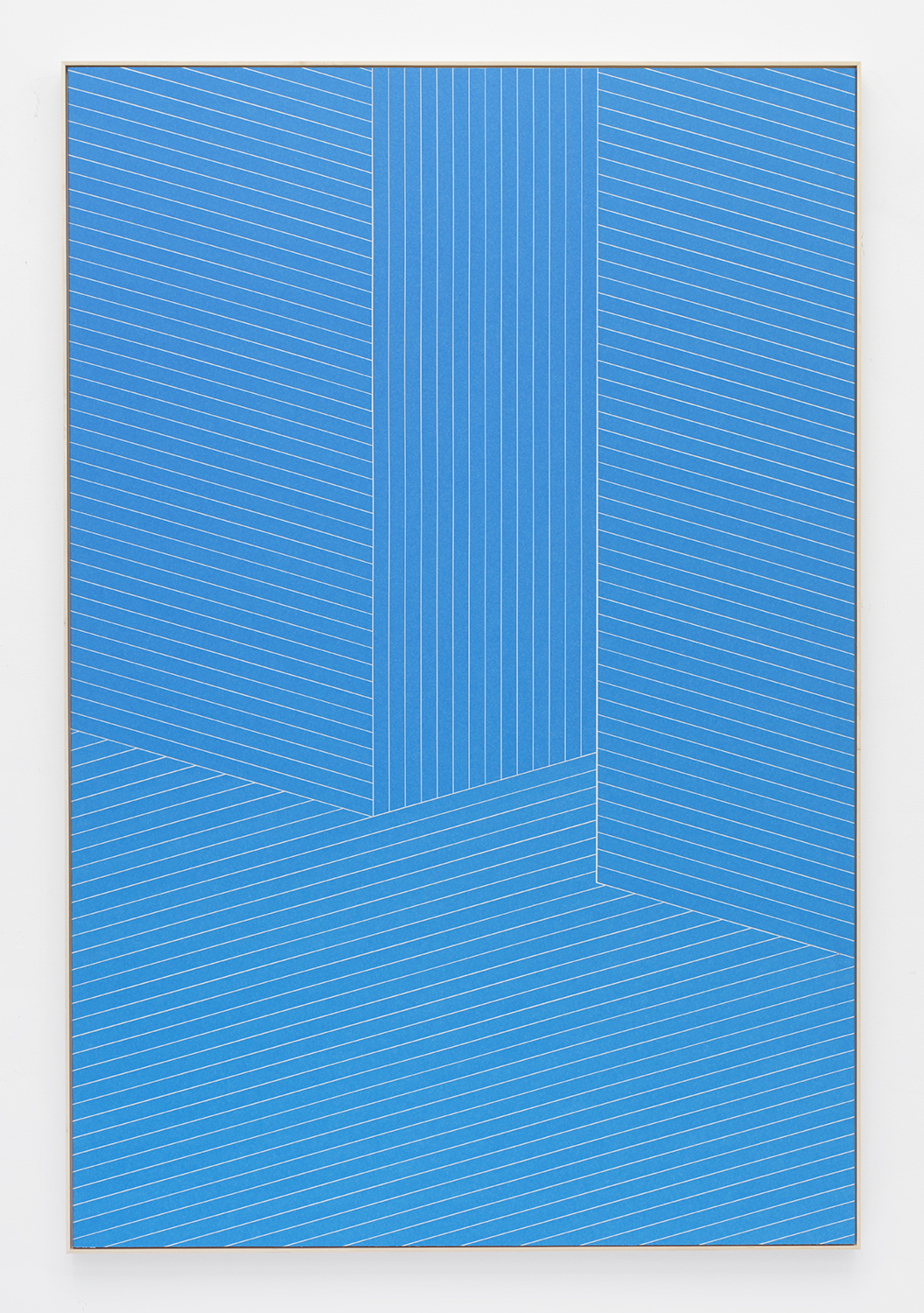 Isaac Brest  Upon Further Examination , 2014 Painter's tape on drywall in artist's frame 72 x 48 inches