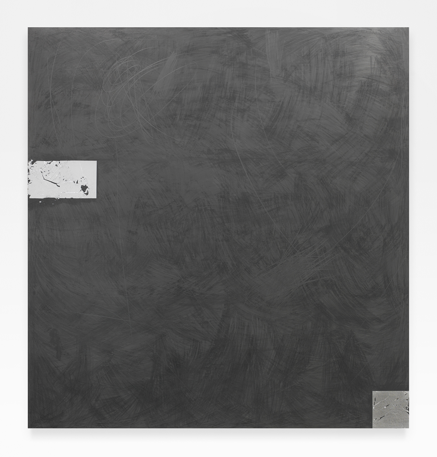 Brendan Lynch  All Nighter , 2014 Graphite and aluminium leaf on wood 60 x 57 inches