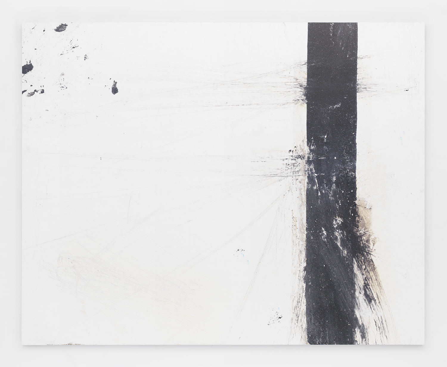 Alex Perwiler  Blinded by the Light , 2014 UV curable ink, paint on aluminium panel 72 x 90 inches