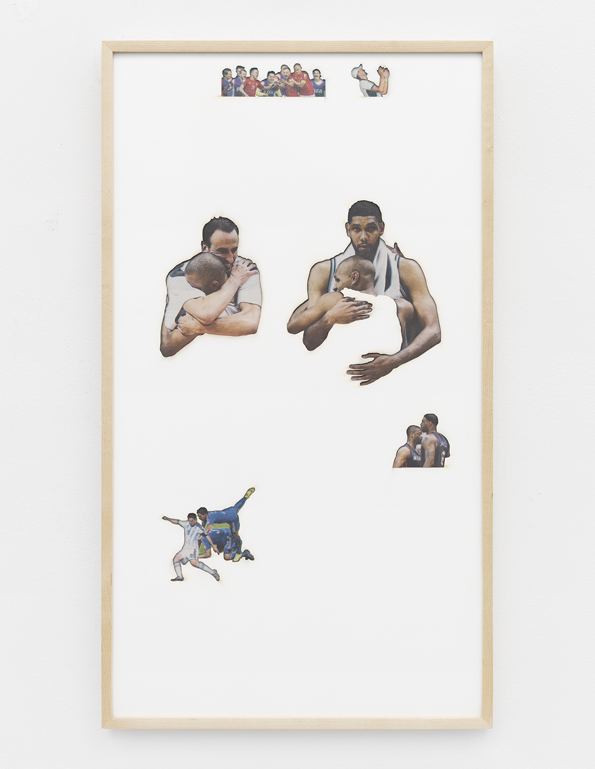 Zachary Susskind  Artifact: Agony & Ecstasy (El Greco) , 2014 Cotton and paper 22.5 x 12.5 inches