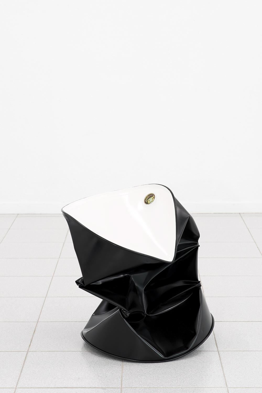 Dylan Lynch  Sitting in Limbo , 2014 Acrylic on steel 23 x 24 x 25 inches