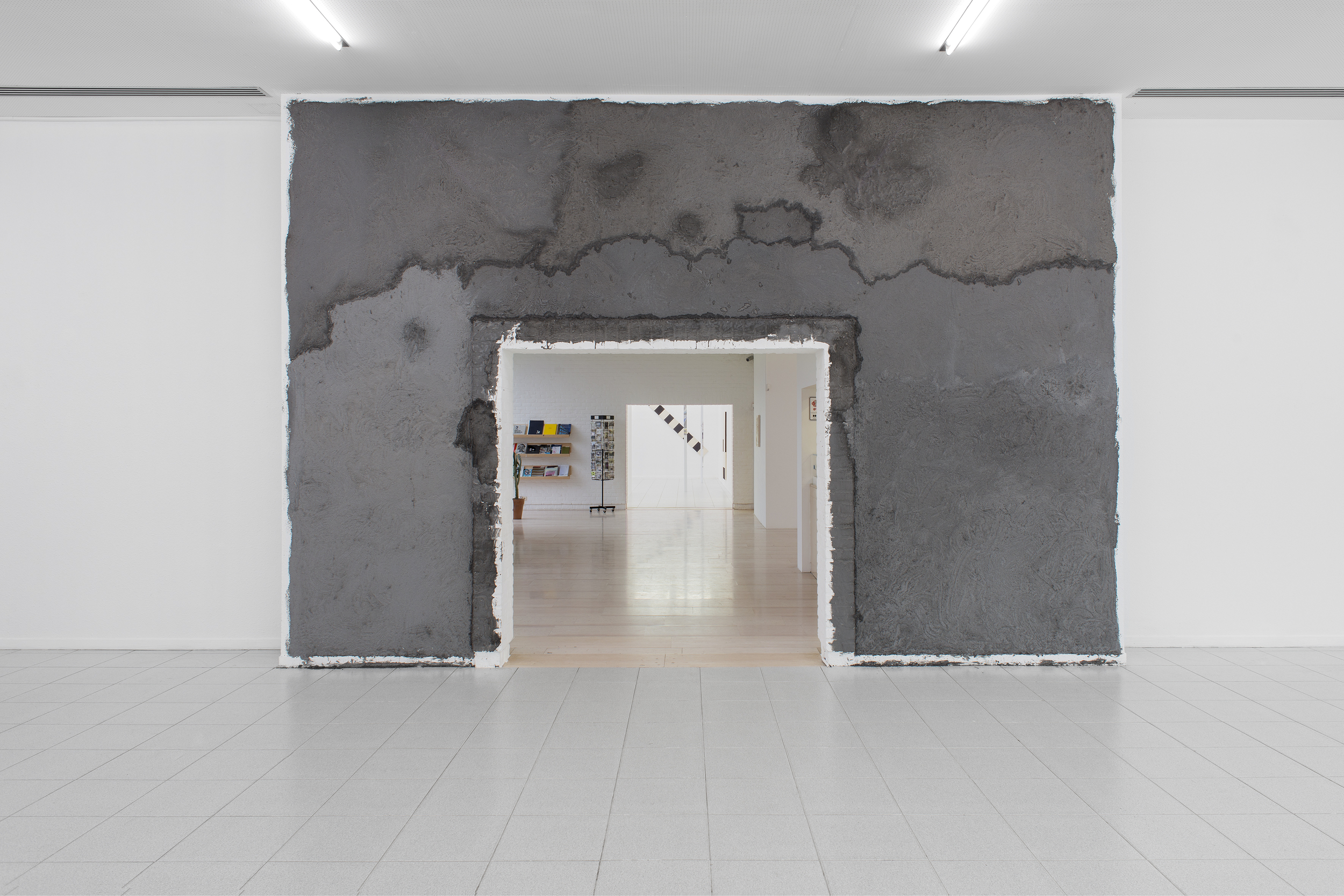 Brendan Lynch  Baader-Meinhof Phenomenon , 2014 Cigarette ash applied to wall Dimension variable