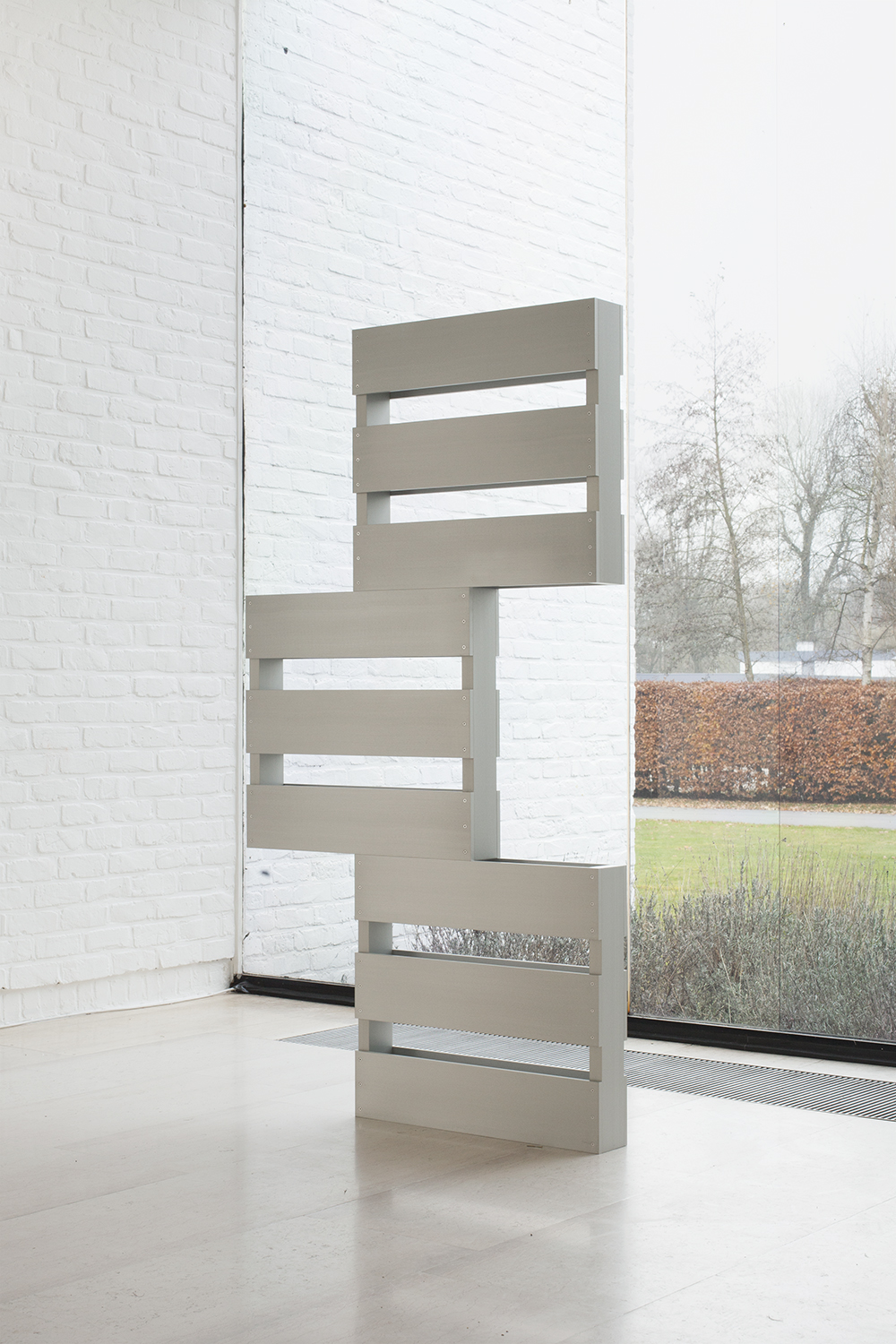 Dylan Lynch  Omit the Logic , 2014 Steel 72 x 38 x 4.5 inches
