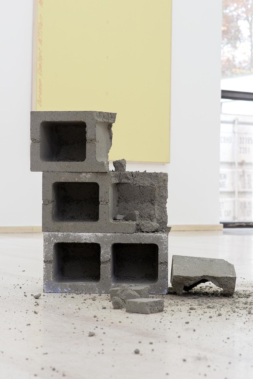 Dylan Lynch  Untitled , 2014 Cinder blocks Dimensions variable