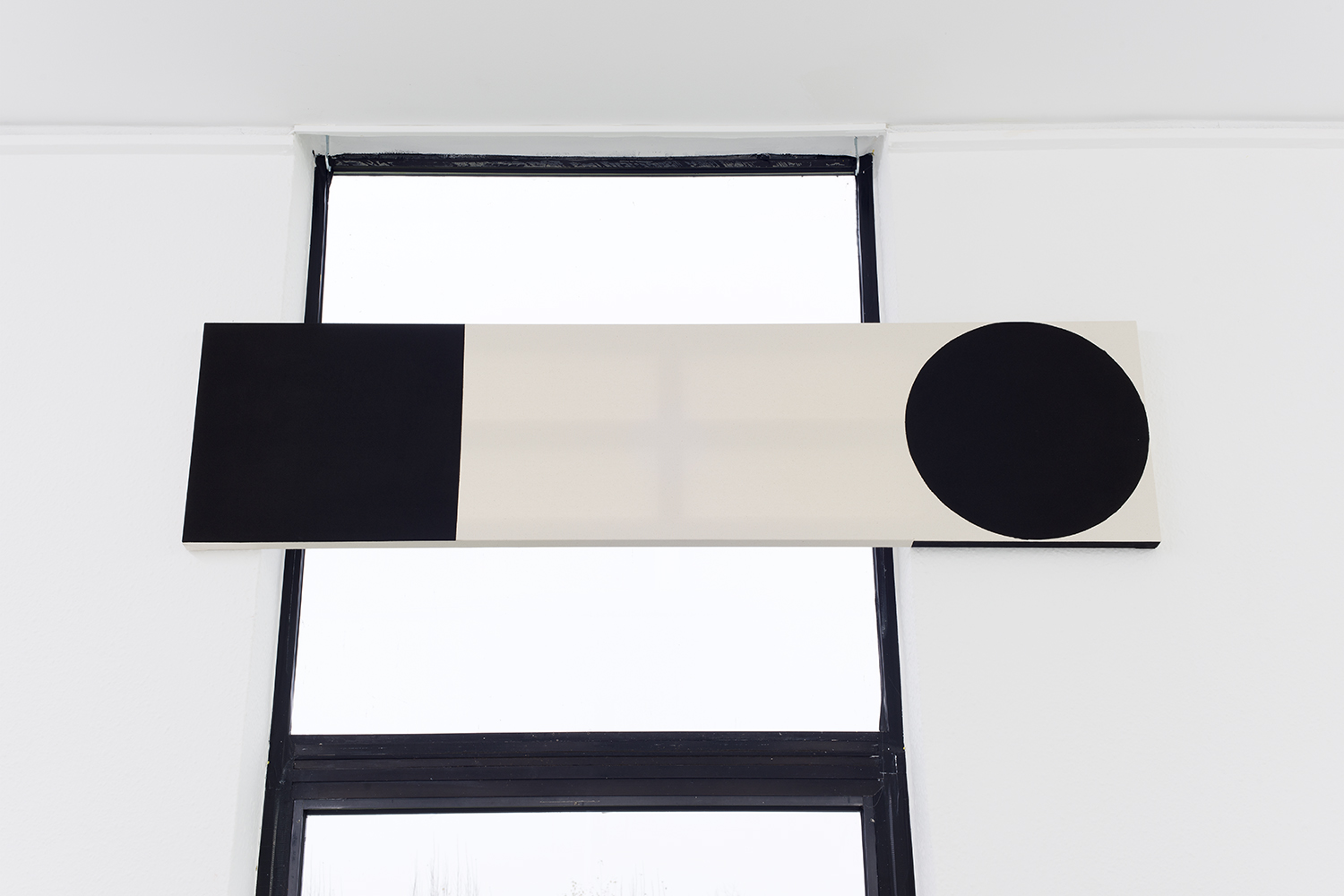 Augustus Thompson  Cig (Sign) , 2014 India Ink and pencil on canvas 18 x 72 inches