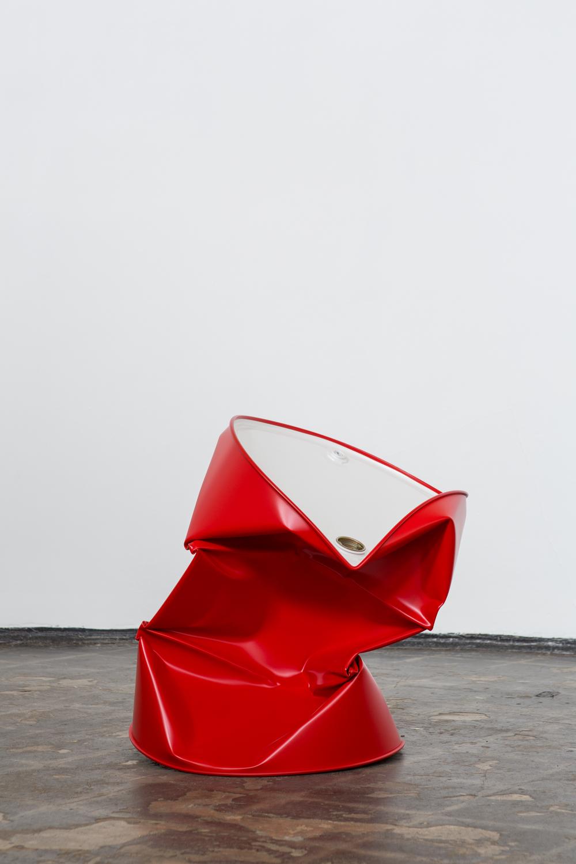 Dylan Lynch  I Wish It Would Rain , 2014 Acrylic on steel 29 x 20 x 22 inches