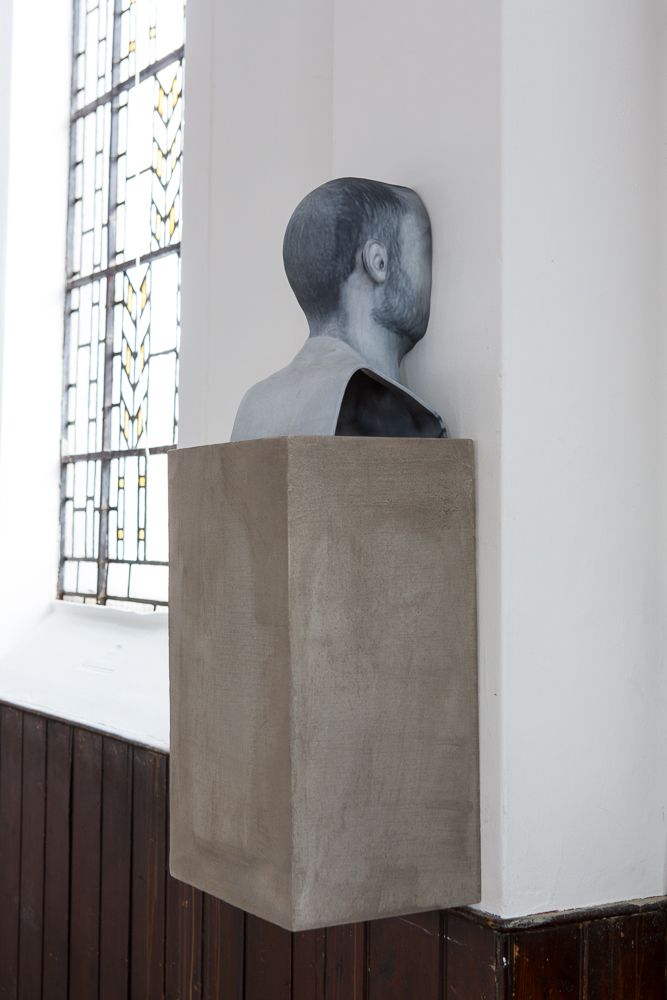 Zachary Susskind  (CONFERENCE)   Men of Words (4) , 2014 Pigmented plaster ZPrint, concrete 5 x 9 x 8 inches