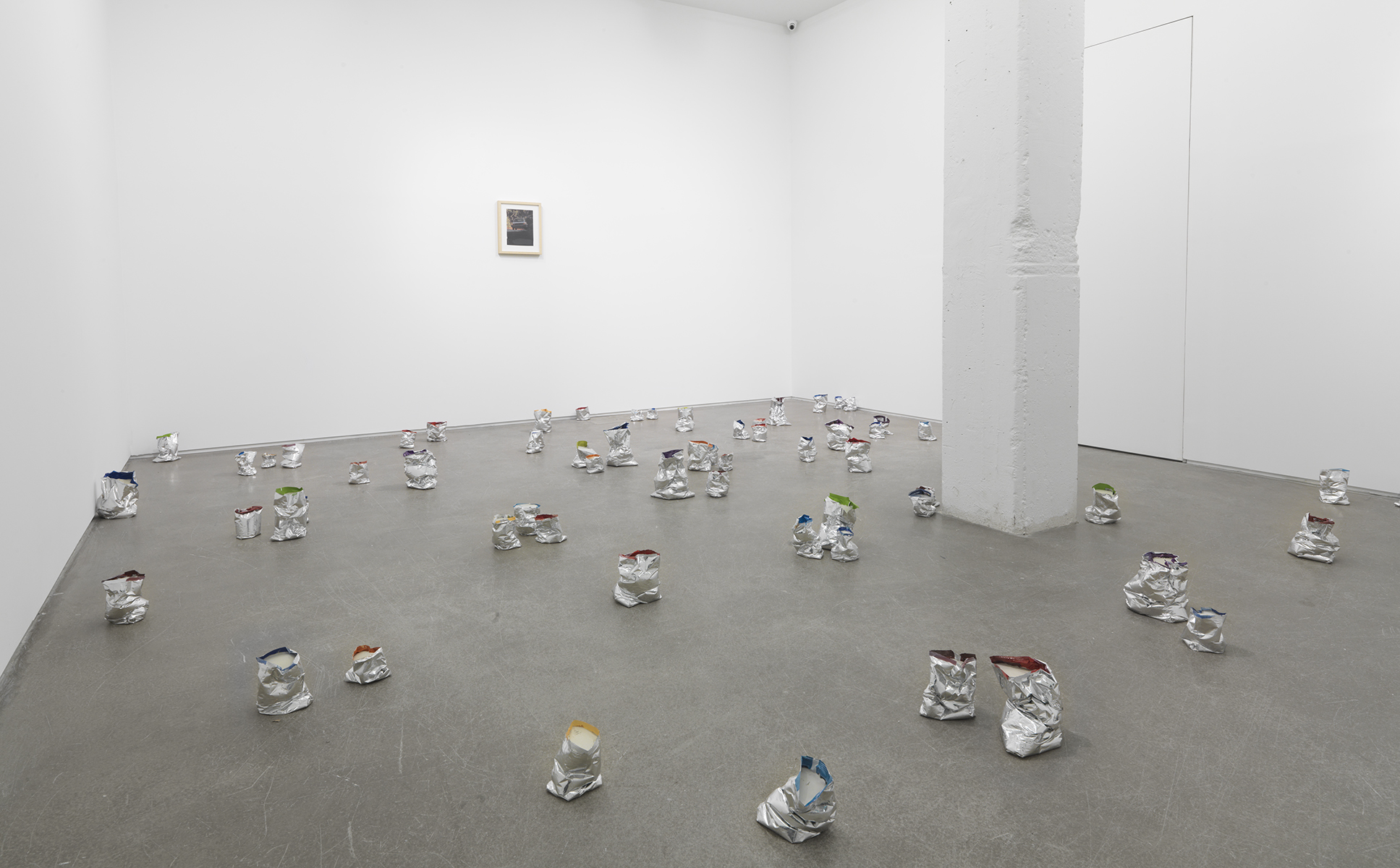 Yankee Two ,2013 Chip bags and concrete Dimensions variable
