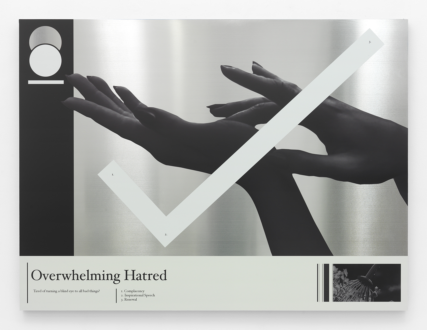 Overwhelming Hatred , 2015 UV curable ink on aluminum panel 45 x 60 inches
