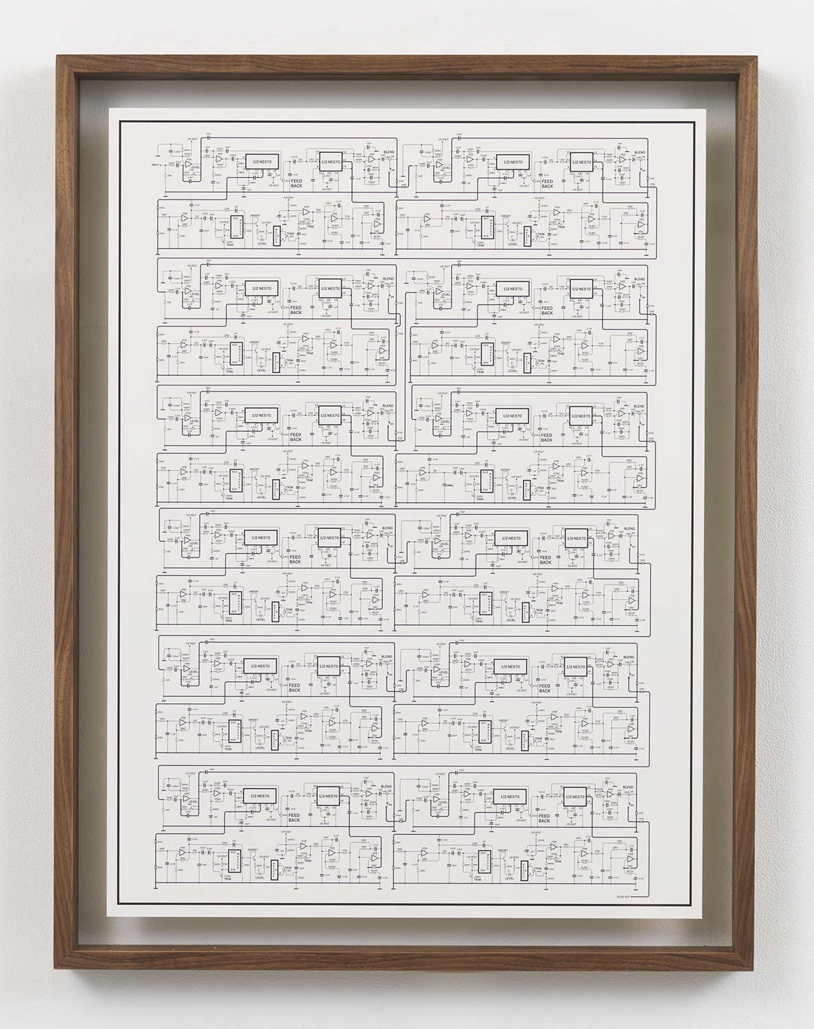 Deluxe Memory Man Cascade , 2015 Inkjet print in artist frame 33.75 x 25.75 inches