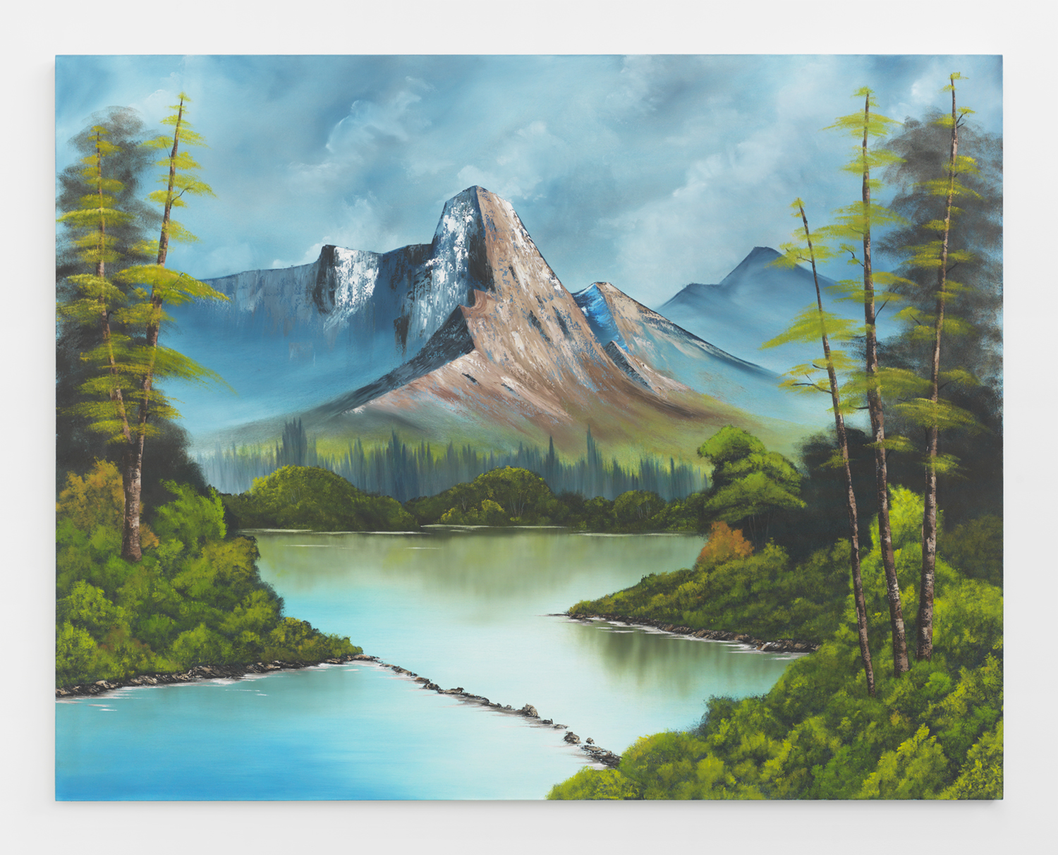 Mountain Cabin , 2015  Oil on canvas  66 x 84 inches