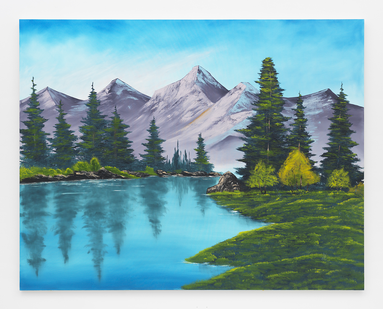 Purple Mountain Range , 2014  Oil on canvas  66 x 84 inches