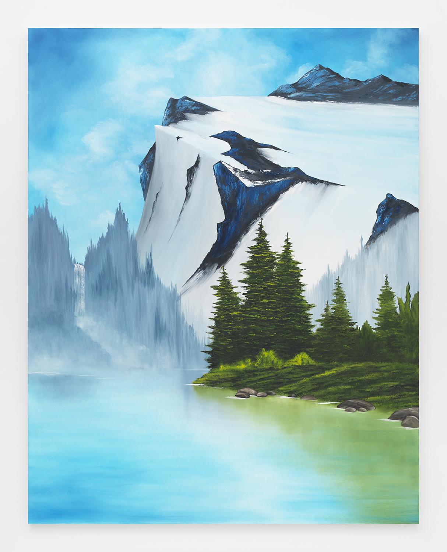 Glacier Lake , 2015  Oil on canvas  84 x 66 inches