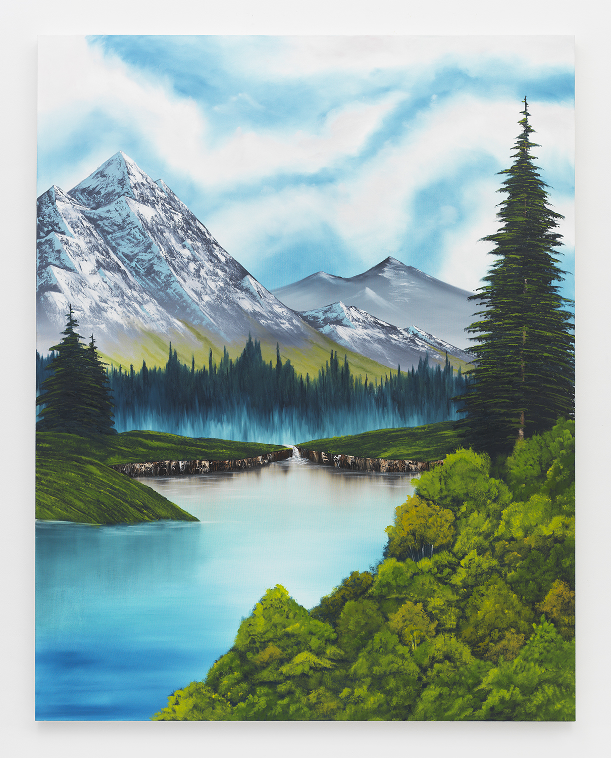 Valley of Tranquility , 2015  Oil on canvas  84 x 66 inches