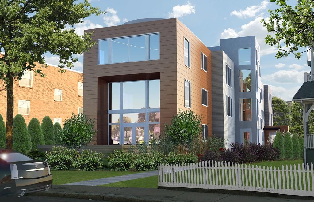 This luxury condo is one of three units in a brand new building, offering modern living between Coolidge Corner & Brookline Village.
