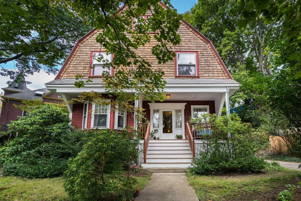 This Brookline 4 bedroom single-family house has potential for a spacious master suite or au pair suite on the third floor, off-street parking, and an excellent location.