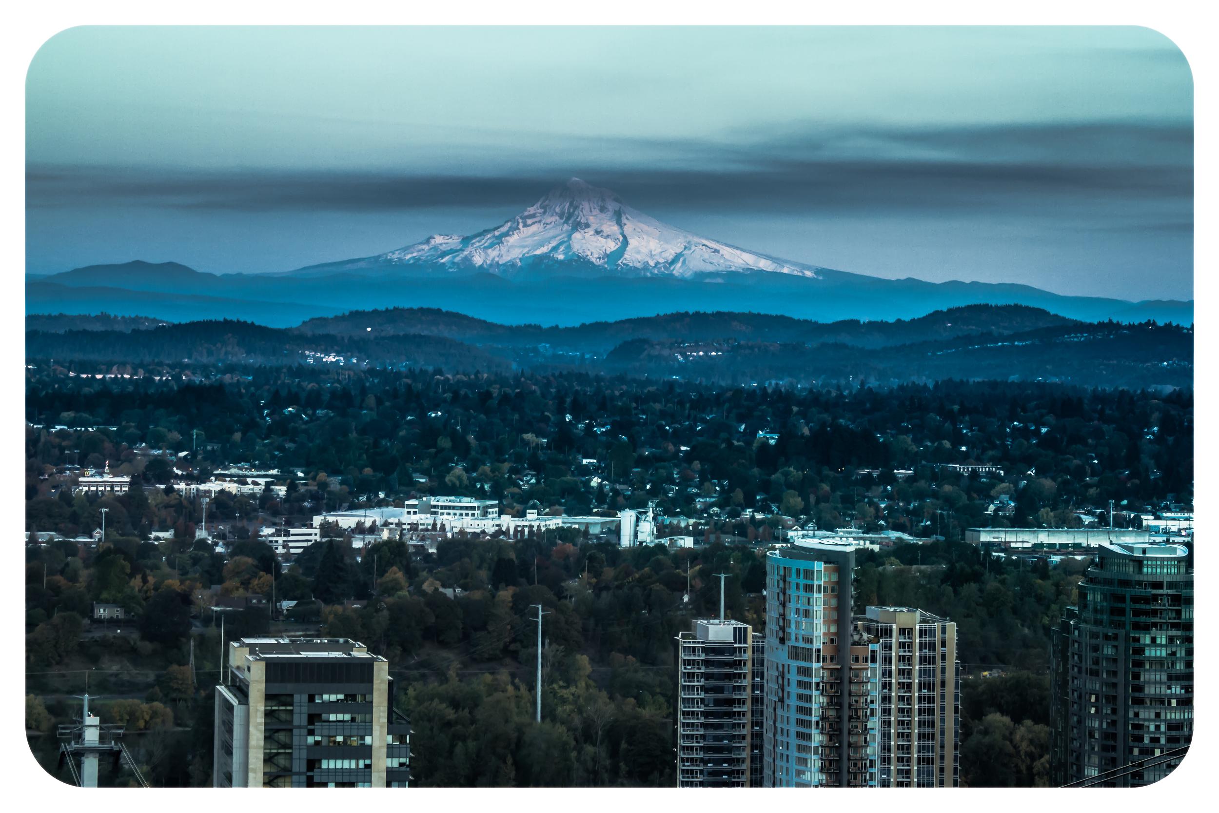 Mt Hood over Portland