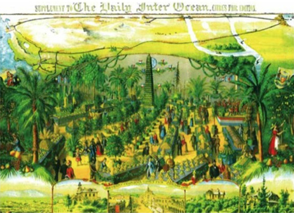 """Supplement to the Daily Inter Ocean Citrus Fair Edition"", Southern California Citrus Fair, Chicago, 1886 |Courtesy of University of California Berkeley, Bancroft Library"