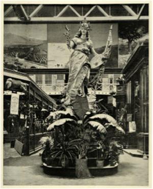 Statue of California, California Building, Chicago World's Fair, 1893
