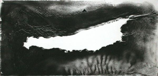 "Tom McMillin's ""San Clemente Island"", from the ""Island Series"", Magnetite on plexiglass, circa 1979 | Photo : Hillary Mushkin"