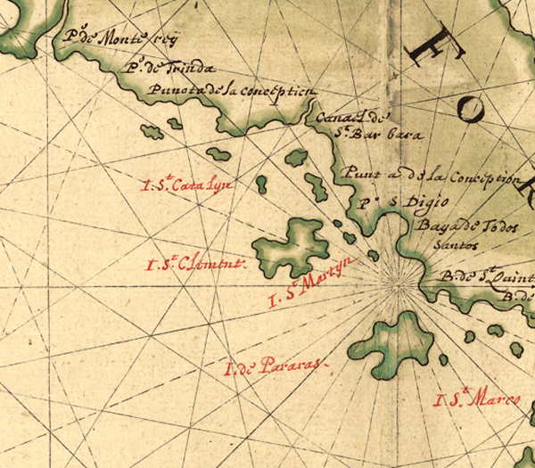 Detail of  Map of California shown as an island , Joan Vinckeboons, 1650 | Courtesy of Geography and Map Division, Library of Congress