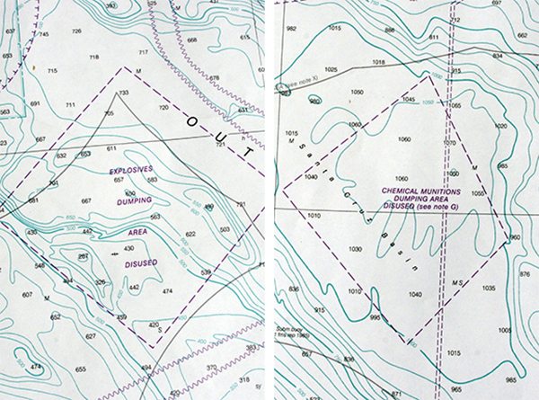 Details from the NOAA chart of San Diego to Santa Rosa Island, Soundings in fathoms, 2012