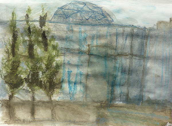 Radome, Housing protecting radar antennae | Drawing : Allison Heape