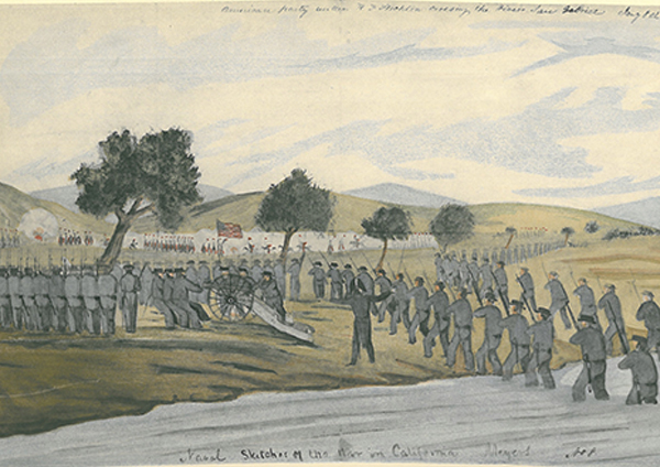 """William H. Meyers, """"Crossing the San Gabriel River"""", 1847 