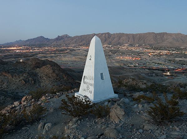 Border Monument No. 2 - N31º47.032' W106º32.239', 2012 | Photo courtesy of David Taylor