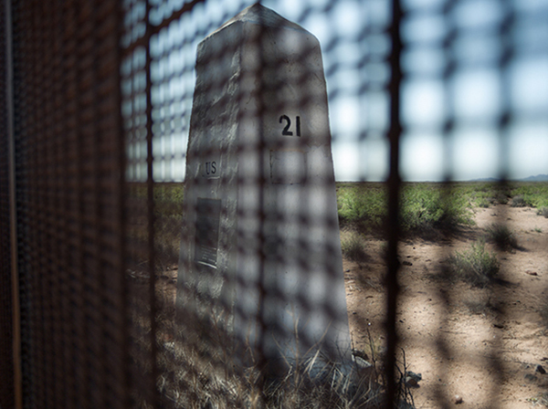 Border Monument No. 21 - N31º47.023' W107º35.972', 2008 | Photo courtesy of David Taylor