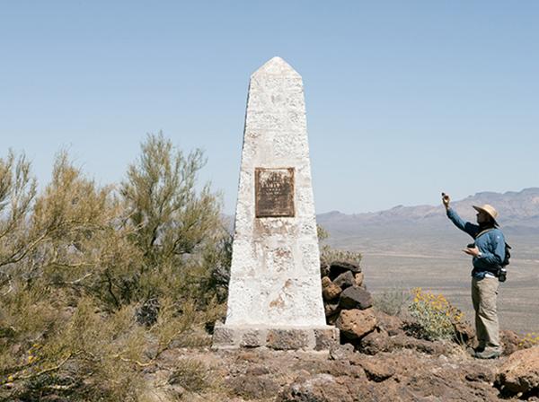 Border Monument No. 160 - N31º47.656' W112º32.281', 2012 | Photo courtesy of David Taylor