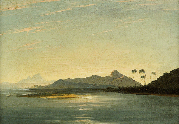 View of the Islands of Otaha [Taaha] and Bola Bola [Bora Bora] with Part of the Island of Ulietea [Raiatea]  , William Hodges, oil on canvas, 345 x 516 mm, 1773. National Maritime Museum, Greenwich, London, Ministry of Defense Art Collection