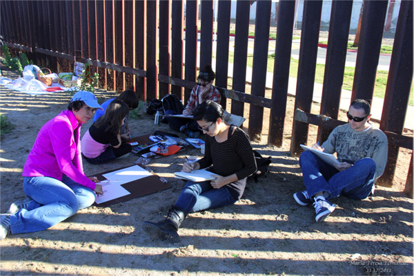 Draw-in at Border Field State Park, 2012. | Photo by Maria Teresa Fernandez